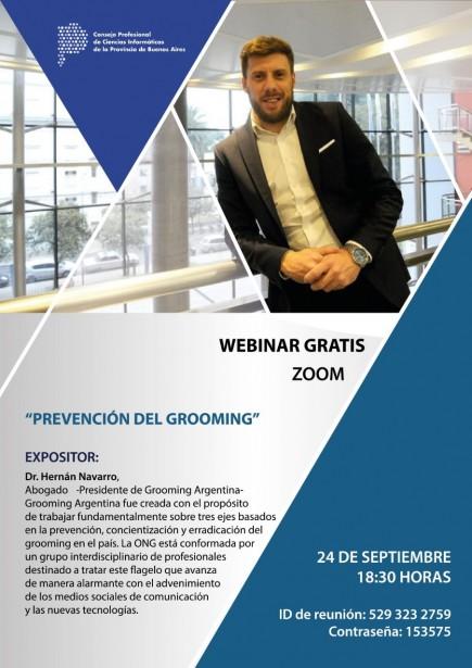 """Webinar gratis: """"Prevención del grooming"""""""