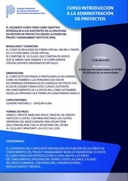 Curso Introducción a la Administración de Proyectos