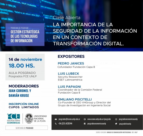 Clase sobre importancia de la seguridad de la información en un contexto de transformación digital