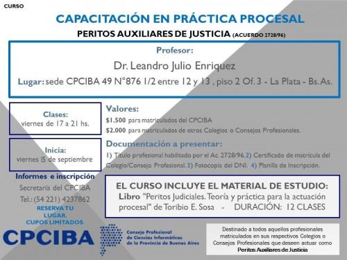 Capacitación en Práctica Procesal - Peritos - La Plata | Inicia 15/09