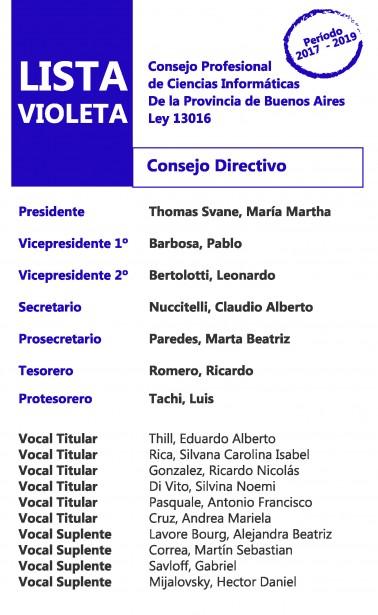 La Lista Violeta ganó las elecciones para Consejo Directivo