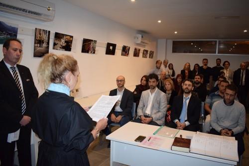 El viernes se realizó la primera Jura de Matriculados en la sede propia