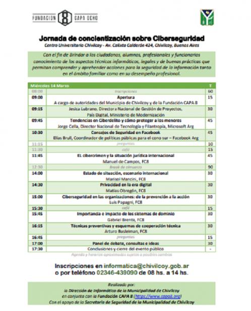 Jornada de concientización sobre Ciberseguridad