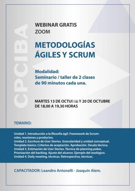 Webinar gratis por Zoom: Metodologías ÁGILES y SCRUM