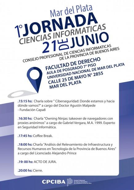 Llega a Mar del Plata la 1er Jornada Ciencias Informáticas