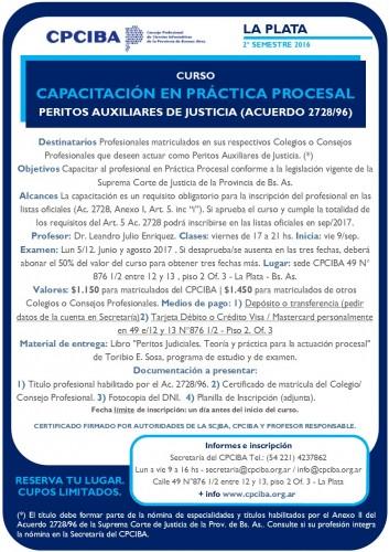 Capacitación en Práctica Procesal - Peritos - La Plata | Inicia 09/09